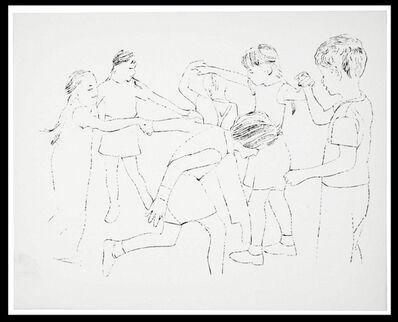 Andy Warhol, 'Children Playing Ring Around the Rosie, Happy December', 1956