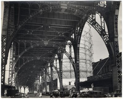 Berenice Abbott, 'Under Riverside Drive Viaduct.  (145th Street and 12th Avenue.)', 1937