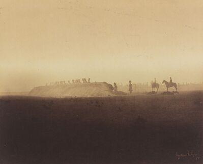 Gustave Le Gray, 'Cavalry Maneuvers, Camp de Châlons', 1857