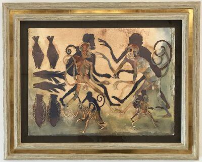 Francisco Toledo, 'Changos y Pescados (Monkeys and Fish)', 2011