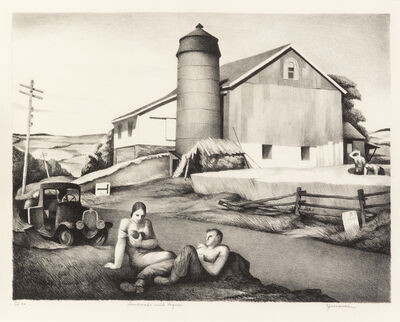 Benton Spruance, 'Landscape with Figures', 1940