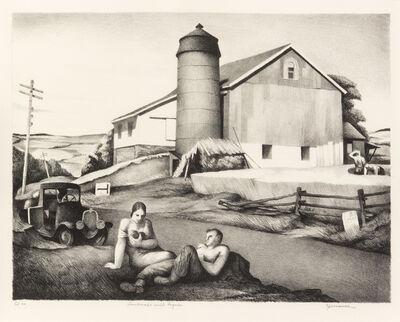 Benton Spruance, 'Landscape with Figures', 1940