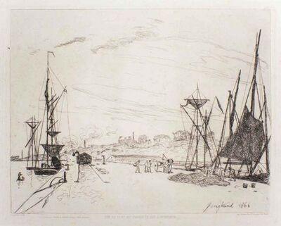 Johan Barthold Jongkind, 'Vue Du Port Au Chemin De Per A Honfleur', 1866