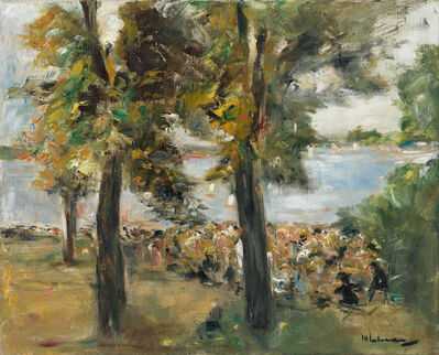 Max Liebermann, 'Gartenlokal an der Havel unter Bäumen', 1933