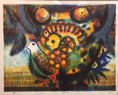 Juan Ripollés, 'Spanish Modernist 'Paloma' Colorful Lithograph of a Bird', 1960-1969