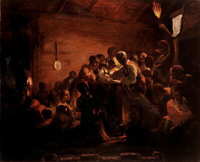 William Tolman Carlton, 'Watch Meeting – Dec. 31st 1862 – Waiting for the Hour', 1863