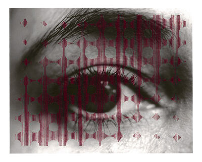 Oriane Stender, 'Untitled sewn photograph (eye/circles)', 2008