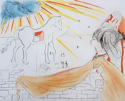 Salvador Dalí, 'Helen and the Trojan Horse (Hélène et le cheval de Troie)', 1972
