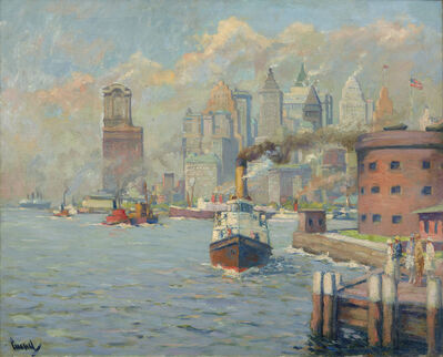 Edward Cucuel, 'The Gateway to America (from Governor's Island)', ca. 1928