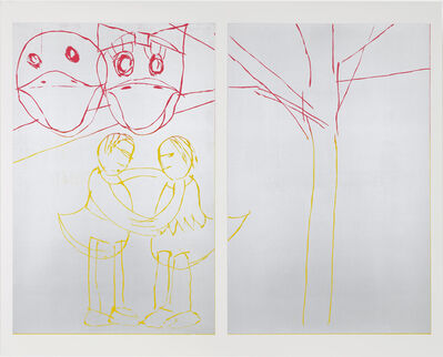 Andrea Büttner, 'Donald and Daisy', 2015