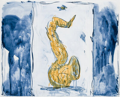 Claes Oldenburg, 'Soft Saxophone (Blue, Yellow, Red)', 1992