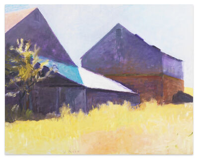 Wolf Kahn, 'Two Barns (First Version)', 1999