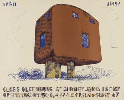 Claes Oldenburg, 'Poster for Claes Oldenburg at Sidney Janis Gallery', 1967