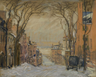 Arthur Clifton Goodwin, 'Mount Vernon Street To Charles - Winter', ca. 1915