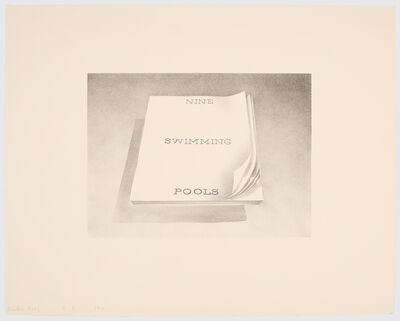 Ed Ruscha, 'Nine Swimming Pools', 1970