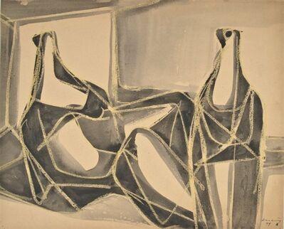 Karl Hartung, 'Liegende und sitzende Figur (Paar)', 1948