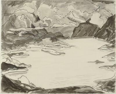 Erich Heckel, 'See zwischen Bergen', 1960