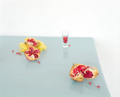 David Halliday, 'Pomegranate on Blue', 2013