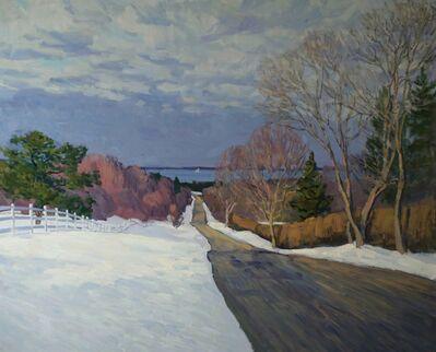 Viktor Butko, 'Ram Island Road in Winter', 2021
