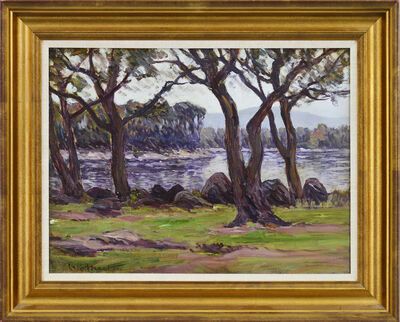 Lewis Henry Meakin, 'River with Trees'