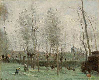 Jean-Baptiste-Camille Corot, 'Washerwomen in a Willow Grove', 1871