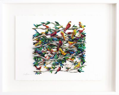 David Gerstein, 'Exotic Birds - Paper Cut', 2006