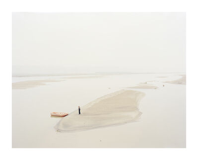 Zhang Kechun, 'A Man Standing on an Island in the Middle of the River Shaanxi, China', 2012
