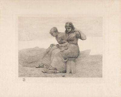 Winslow Homer, 'MENDING THE TEARS (GOODRICH 97)', 1888