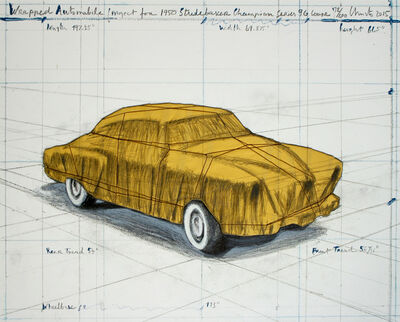 Christo, 'Wrapped Automobile (Project for 1950 Studebaker Champion, Series 9 G Coupe) ', 2015