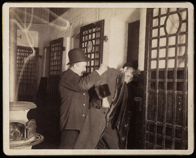 Richard Hoe Lawrence, '[Well-dressed man being thrown into jail]', ca. 1895
