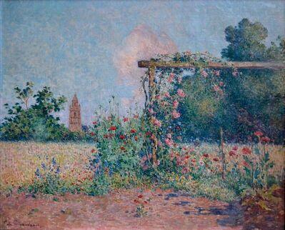 Ferdinand du Puigaudeau, 'Le jardin fleuri devant l'église de Croisic', ca. 0