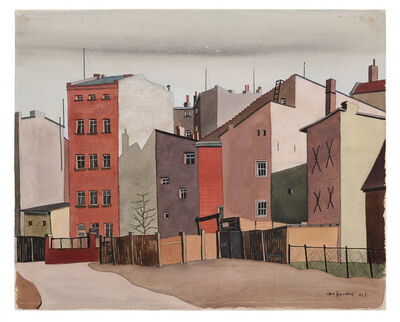 Carl Grossberg, 'Häuser', 1937