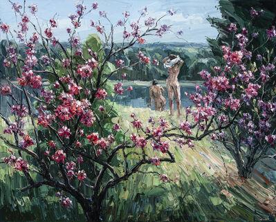 Jun Chen (b. 1960), 'Two Figures near the River', 2020