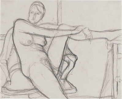 Richard Diebenkorn, 'Untitled (Seated Nude, Leg Raised)', 1968