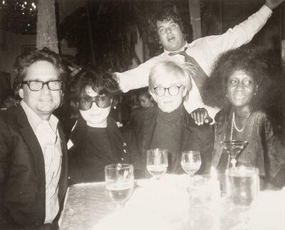 Andy Warhol, 'ichael Douglas, Yoko Ono, Andy Warhol, Jann Wenner', circa 1980