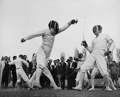 Robert Capa, 'Hungari - Sword fencing', 1950