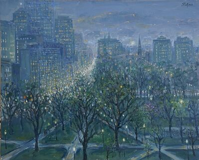 Bruno Zupan, 'Boston Skyline, looking up Boylston Street from Boston Public Garden', 2020