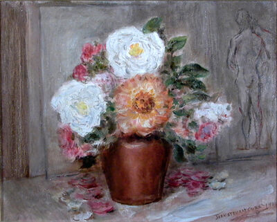 John Steuart Curry, 'Roses in Copper Pot', 1943