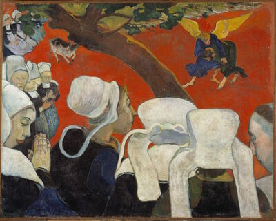 Paul Gauguin, 'Vision after the Sermon (Jacob Wrestling with the Angel)', 1888