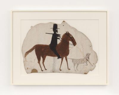 Bill Traylor, 'Hunter on Horseback with Spotted Dog', 1939-1942