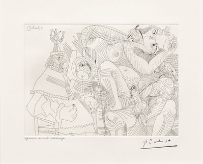 Pablo Picasso, 'Raphael et la Fornarina XII..., from the 347 Series', 1968
