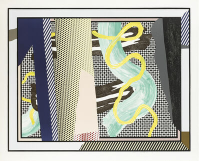 Roy Lichtenstein, 'Reflections on Brushstrokes, from the Reflections Series', 1990