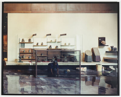 Sharon Lockhart, 'Enrique Nava Enedina: Oaxacan Exhibit Hall, National Museum of Anthropology, Mexico City', 1999