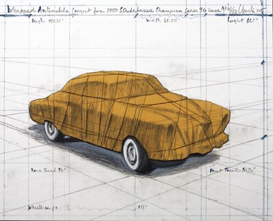 Christo, 'Wrapped Automobile (Project for 1950 Studebaker Champion Series 9G Coupe)', 2015
