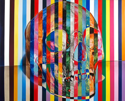 "Victor Rodriguez, '""31 Stripe Color Skull""', 2012"