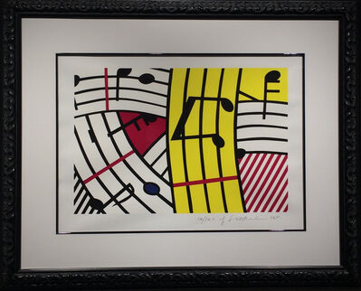 Roy Lichtenstein, 'Composition IV (Musical Notes)', 1995