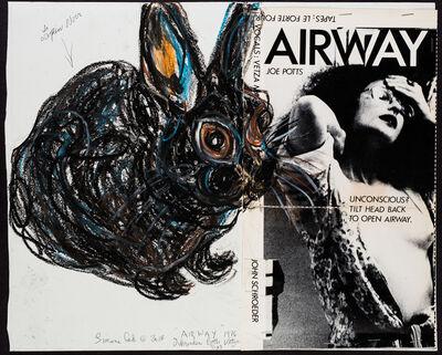 Simone Gad, 'Lapin Noir Avec AIRWAYS 1970s Autoportrait Collaboration-John Schroeder RIP-Et Joe/Rick Potts', 2018