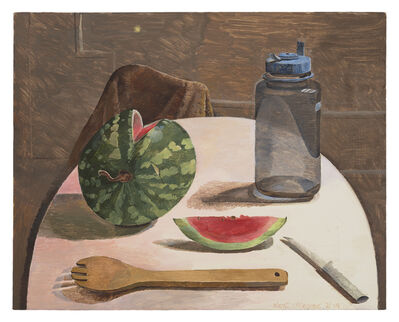 Kent O'Connor, 'Round Table with Watermelon', 2019