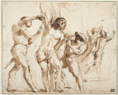 Guercino, 'Study for the Martyrdom of Saint Bartholomew', 1635-1636