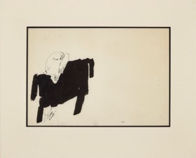 Michael Snow, 'Man at Desk #2', 1957
